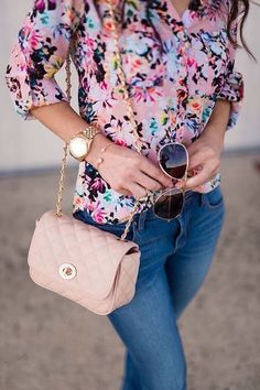 nice Jeans,floral blouse by http://www.danafashiontrends.us/modest-fashion/jeansfloral-blouse/