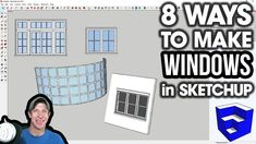 One of the most common uses for is modeling buildings for architectural use. Check out this video teaching you 8 easy ways to create windows for your architectural models! 3d Interior Design Software, Window Maker, Sketchup Woodworking, Google Sketchup, Sketchup Model, French Architecture, 3d Warehouse, Cool Sketches, Postmodernism
