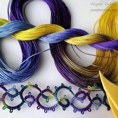 Yarnplayer's Tatting Blog: Vintage pattern reversing chains