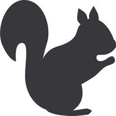 Best Squirrel Silhouette #7600 - Clipartion.com
