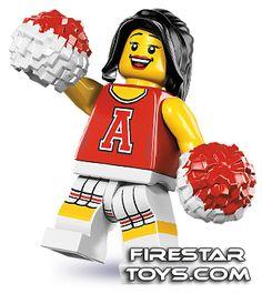 LEGO Minifigures Series 8 Red Cheerleader