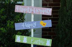 Hippity Hoppity Easter Sign