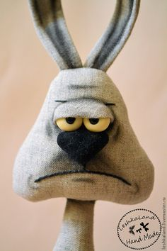would be cute if needle felted Fabric Animals, Crochet Animals, Felt Animals, Rabbit Crafts, Rabbit Art, Stuffed Animal Patterns, Diy Stuffed Animals, Crazy Toys, Monster Dolls