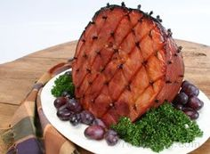 A decorative ham with great honey flavor that is perfect for your Christmas or Easter dinner. This honey baked ham recipe is one of many superb ham recipes you will find on our site. Also see many helpful ham cooking tips. Honey Baked Ham Recipe, Honey Ham, Ham Recipes, Cooking Recipes, Easter Recipes, Kitchen Recipes, Cooking Tips, Christmas Ham, Baking With Honey