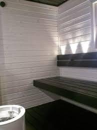 Aiheeseen liittyvä kuva Portable Steam Sauna, Sauna Design, Finnish Sauna, Interior Inspiration, Blinds, Curtains, House, Saunas, Bathroom Ideas