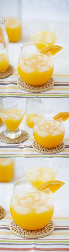 Screwdriver Cocktail - the easiest boozy cocktail that you can make at home with only two ingredients: orange, vodka and takes 10 mins! Easy Alcoholic Drinks, Easy Cocktails, Cocktail Drinks, Cocktail Recipes, Drink Recipes, Dinner Recipes, Booze Drink, Food And Drink, Refreshing Drinks