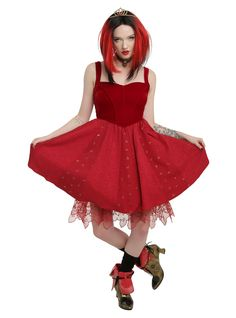 Disney Alice Through The Looking Glass Red Queen Heart Dress,