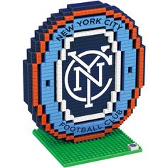 New York City FC MLS BRXLZ 3D Construction Puzzle Set - Logo **PREORDER - Ships In March**