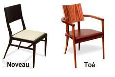 Cadeiras Noveau e Toá de Sergio e Jack Fahrer