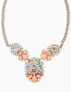 Coral cluster necklace