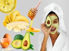 5 Natural Face Mask Recipes For those of us who don't have the time to escape to a spa for relaxation, these home-based face masks are a great result for giving skin a boost. Face Mask For Pores, Mask For Oily Skin, Acne Face Mask, Diy Face Mask, Natural Eyes, Homemade Face Masks, Facial Masks, Avocado, Spa