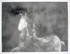 Dream Horse Series, #3 Monotype by Fritz Scholder