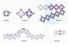Схема колье из кристаллов