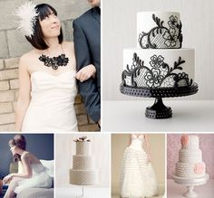 Pretty cakes in the lower right part of the picture from Love and Lavender.