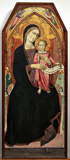 Luca di Tommè Madonna in trono con Bambino e Santi, 1370