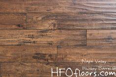 Napa Valley Whiskey Barrel 12mm distressed laminate. Available at HFOfloors.com.