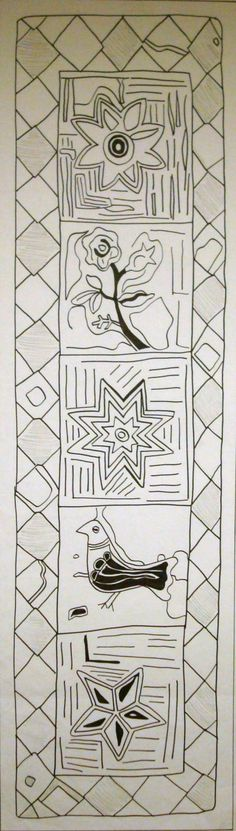 Sarah's 1865 Table Runner [371] - $50.00 : Black Sheep Wool Designs, Primitive Rug Patterns for Primitive Rug Hooking