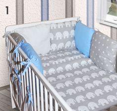 3tlg-8tlg-Baby-Bettwaesche-6-x-Kissen-als-Nestchen-Bettset-100x135-Decke-Neu