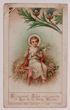 Antique Holy Card Christ Child circa 1900s