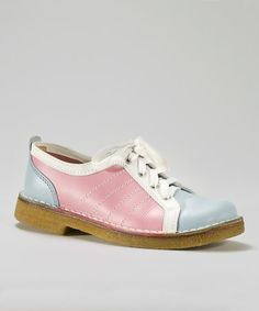 Love this Baby Blue & Pink Bowling Shoe on #zulily! #zulilyfinds