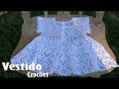 Vestidos Para Niña Tejidos en Crochet Ganchillo - YouTube