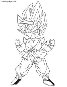 Goku Gt Coloring Pages from Goku Coloring Pages. On this page, we've collected several nice coloring pictures from the Japanese anime series Dragon Ball Z especially Son Goku. Super Coloring Pages, Cartoon Coloring Pages, Coloring Pages For Kids, Coloring Book Pages, Chibi Goku, Goku Drawing, Ball Drawing, Kid Goku, Dragon Ball Gt