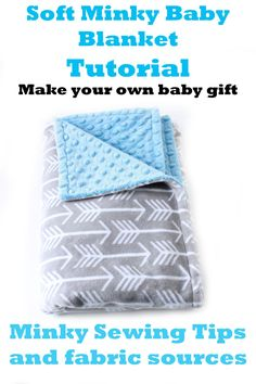 Soft Baby Blanket Tutorial - with minky sewing tips - A crafty Life - sewing Tutorial