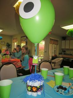 Monsters Inc Baby Shower Decorations | Cute Centerpieces That Kadi And Kim  Made!