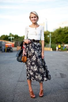 Preppy. Great way to style a vintage (aka granny) skirt