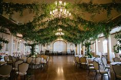 Wedding venue transformed into a secret garden {Could do with all different kinds of decorations}