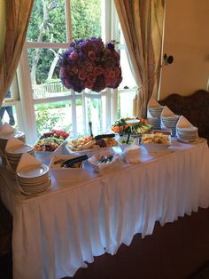Appetizer station at the #kellogghouse #foodtime #appetizers #buffet