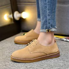 4ea597edf65e Women Comfy Lace Up Flat Shoes