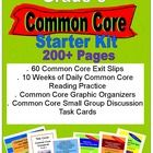 This bundle includes 60 Common Core exit slips, 10 weeks of daily Common Core reading practice, Common Core graphic organizers for every Literature...