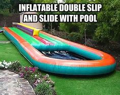 Inflatable double slip and slide with pool. For Keller Family Fun Fest perhaps? Who's with me?