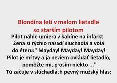 Blondína letí v malom lietadle so starším pilotom - Spišiakoviny.eu
