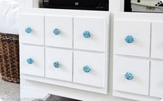 Turquoise Cabinet Knobs - DIY - Anthropologie knock off.
