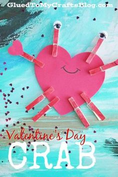 Valentine Art Project Ideas Using Craft Foam Hearts - Glued To My Crafts Valentine's Day Crafts For Kids, Daycare Crafts, Toddler Crafts, Preschool Crafts, Diy For Kids, Valentine Activities, Valentine Crafts For Kids, Valentine Day Crafts, Craft Activities