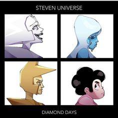 Lovin how psychotic White looks here Blue Diamond Steven Universe, Steven Universe Anime, Steven Universe Theories, Steven Universe Pictures, Steven Universe Drawing, Demon Days, Gorillaz, Lapidot, Cute Art