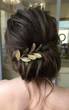 bridal updo, rustic, low chignon, messy bun, wedding hairstyle: