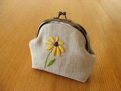 Black-Eyed Susan Snap Frame Pouch | Flickr - Photo Sharing!