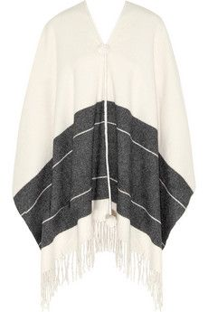 By Malene Birger Sinadis fringed wool poncho | THE OUTNET