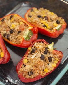 These mexican stuffed peppers look amazing! They are full of flavor and still so healthy. Yum! #lmldfood