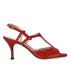 Savona N - Red Stamped Leather (7cm) - SALE