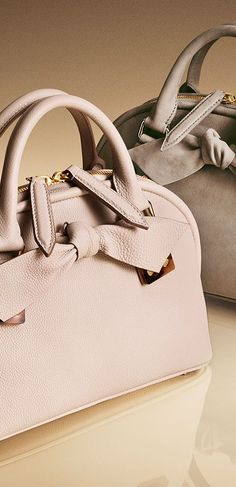 New from Burberry - soft leather bags in shades of honey and stone