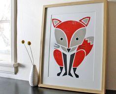 Red Fox Screenprint at www.animalia-store.com