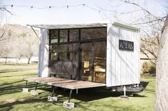 Atlas is a new tiny house creation made by F9 Productions of Longmont, Colorado. They describe it as a tiny house/RV hybrid. It offers a spectacular view, which makes it appear much more spacious, and can also be taken completely off the grid.