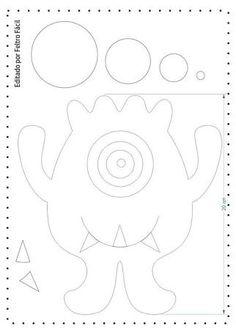 Resultado de imagem para monstros de feltro moldes