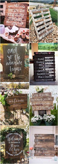 18 Rustic Budget-Friendly Rustic Wedding Signs Ideas - #Weddings #Weddingideas #Weddingsigns