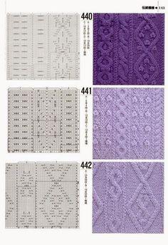 "Photo from album ""Книга 1000 узоров"" on Yandex. Aran Knitting Patterns, Knitting Stiches, Cable Knitting, Knitting Charts, Vintage Knitting, Knit Patterns, Stitch Patterns, Crotchet Stitches, Knit World"
