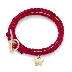 Red braid 34£ #braid #star #bracelet #red #christmas #present #goldplated